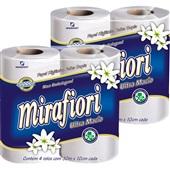 Papel Higiênico Folha Dupla 30m Branco PT 4 RL Mirafiori