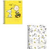 Caderno Colegial Capa Dura 80 FL Snoopy Capas Sortidas 1 UN Tilibra