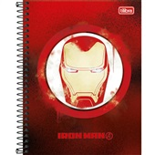 Caderno Colegial Capa Dura 80 FL Avengers Heros B 1 UN Tilibra