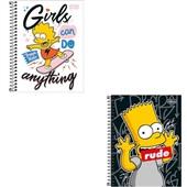 Caderno Colegial Capa Dura 80 FL Simpsons Capas Sortidas 1 UN Tilibra