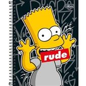 Caderno Colegial Capa Dura 80 FL Simpsons B 1 UN Tilibra