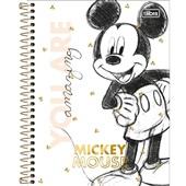 Caderno Colegial Capa Dura 10 Matérias 160 FL Mickey A 1 UN Tilibra