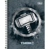 Caderno Colegial Capa Dura 10 Matérias 160 FL Avengers Heroes D 1 UN Tilibra