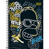 Caderno Espiral Capa Dura 1/4 80 FL The Simpsons B 1 UN Tilibra