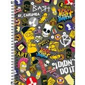 Caderno Espiral Capa Dura 1/4 80 FL The Simpsons D 1 UN Tilibra
