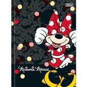 Caderno Brochura Capa Dura 1/4 80 FL Minnie C 1 UN Tilibra