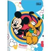 Caderno Brochura Capa Dura 1/4 80 FL Mickey B 1 UN Tilibra