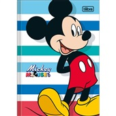 Caderno Brochura Capa Dura 1/4 80 FL Mickey D 1 UN Tilibra
