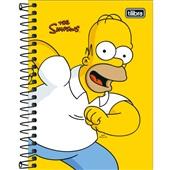 Caderneta Espiral Capa Dura 1/8 80 FL The Simpsons C 1 UN Tilibra