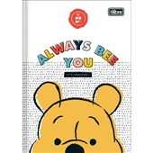 Caderno Brochura Capa Dura 1/4 80 FL Pooh B 1 UN Tilibra
