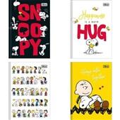 Caderno Brochura Capa Dura 1/4 80 FL Snoopy Capas Sortidas 1 UN Tilibra