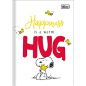 Caderno Brochura Capa Dura 1/4 80 FL Snoopy A 1 UN Tilibra