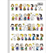 Caderno Brochura Capa Dura 1/4 80 FL Snoopy C 1 UN Tilibra