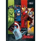 Caderno Brochura Capa Dura 1/4 80 FL Avengers Assemble A 1 UN Tilibra