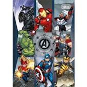 Caderno Brochura Capa Dura 1/4 80 FL Avengers Assemble B 1 UN Tilibra