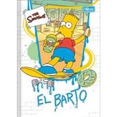 Caderno Brochura Capa Dura 1/4 80 FL Simpsons D 1 UN Tilibra