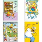 Caderno Brochura Capa Dura 1/4 80 FL Simpsons Capas Sortidas 1 UN Tilibra