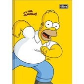 Caderno Brochura Capa Dura 1/4 80 FL Simpsons B 1 UN Tilibra