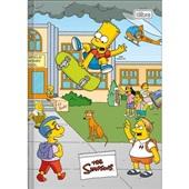 Caderno Brochura Capa Dura 1/4 80 FL Simpsons C 1 UN Tilibra