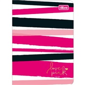 Caderneta Grampeada Capa Flexível 32 FL Love Pink C 1 UN Tilibra