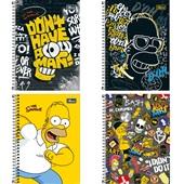 Caderno Espiral Capa Dura 1/4 80 FL The Simpsons Sortido 1 UN Tilibra