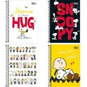 Caderneta Espiral Capa Dura 1/8 80 FL Snoopy Sortido 1 UN Tilibra