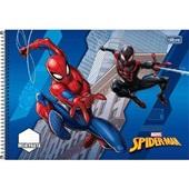 Caderno Espiral Capa Dura Meia Pauta Spider Man A 48 FL 1 UN Tilibra
