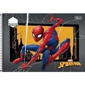 Caderno Espiral Capa Dura Meia Pauta Spider Man B 48 FL 1 UN Tilibra