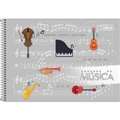 Caderno Espiral Capa Dura Música B 80 FL 1 UN Tilibra