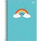 Caderno Universitário Capa Dura 80 FL Rainbow A 1 UN Tilibra