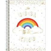 Caderno Universitário Capa Dura 80 FL Rainbow C 1 UN Tilibra