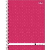 Caderno Universitário Capa Dura 80 FL Académie Feminino  D 1 UN Tilibra