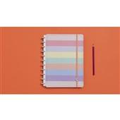 Caderno Inteligente Arco-íris Pastel 80F Grande 1 UN