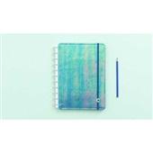 Caderno Inteligente Azul Holográfico 80F Grande 1 UN