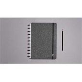 Caderno Inteligente Glitter Black 80FL Grande 1 UN