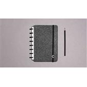 Caderno Inteligente Glitter Black 80FL Pequeno 1 UN