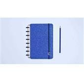 Caderno Inteligente Glitter Blue 80FL Pequeno 1 UN