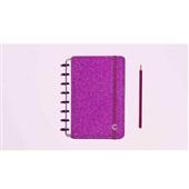 Caderno Inteligente Glitter Pink 80FL Pequeno 1 UN