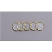 Discos + Elástico para Caderno Inteligente 31mm Dourado Kit 1 UN