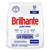 Detergente em Pó sem Perfume Ação Total 4kg 1 UN Brilhante