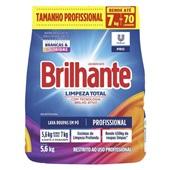 Detergente em Pó Limpeza Total 5,6kg 1 UN Brilhante