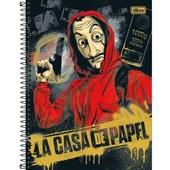 Caderno Universitário Capa Dura 160 FL La Casa de Papel B 1 UN Tilibra