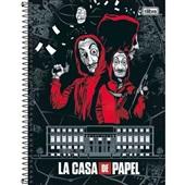 Caderno Universitário Capa Dura 160 FL La Casa de Papel D 1 UN Tilibra