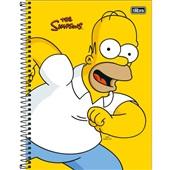 Caderno Universitário Capa Dura 160 FL Simpsons C 1 UN Tilibra