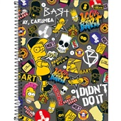 Caderno Universitário Capa Dura 160 FL Simpsons D 1 UN Tilibra