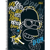 Caderno Universitário Capa Dura 160 FL Simpsons B 1 UN Tilibra