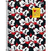 Caderno Universitário Capa Dura 10 Matérias 160 FL Mickey C 1 UN Tilibra