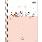 Caderno Universitário Capa Dura 10 Matérias 160 FL Pooh C 1 UN Tilibra