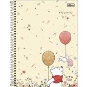 Caderno Universitário Capa Dura 10 Matérias 160 FL Pooh D 1 UN Tilibra