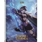 Caderno Universitário Capa Dura 80 FL League of Legends A 1 UN Tilibra